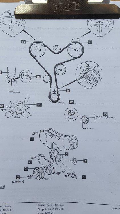 Timing Belt Replacement - Toyota Alphard 3 0 V6