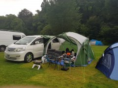 Camping with the alphard